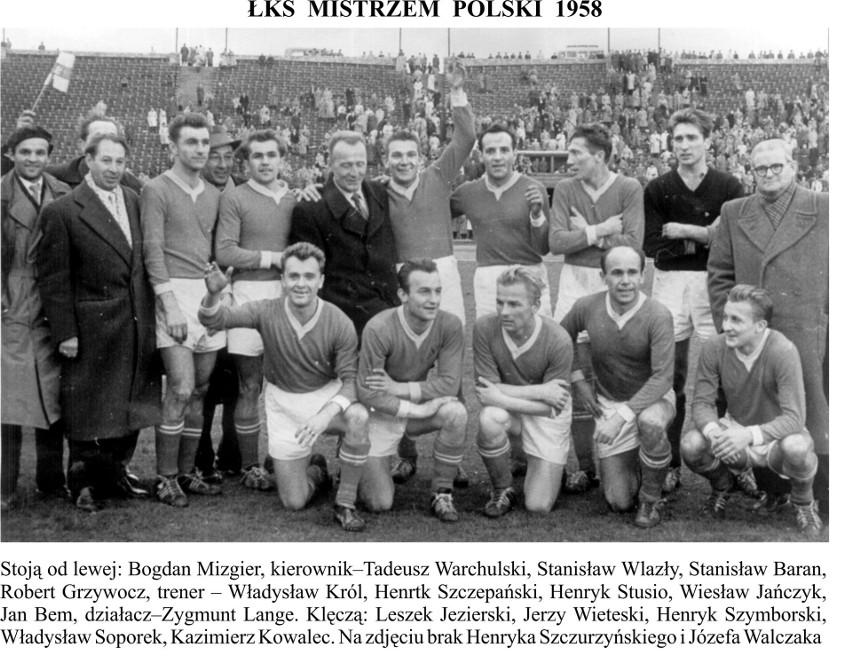 ŁKS mistrzem Polski 1958