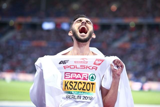 Adam Kszczot trzeci raz z rzędu został mistrzem Europy w biegu na 800 m! Po złotych medalach w Amsterdamie i Zurychu teraz dołożył złoto w Berlinie. Polak znów kontrolował bieg i wygrał ze sporą przewagą (1:44.59). Drugi na mecie był Szwed Andreas Kramer (1:45.03), a trzeci Francuz Pierre Bosse (1:45.30), który w ubiegłym roku pokonał Kszczota na mistrzostwach świata w Londynie. Bardzo dobrze spisali się także dwa pozostali Polacy. Czwarte był Michał Rozmys (1:45.32) a piąty 21-letni Mateusz Borkowski (1:45.42). Obaj poprawili swoje rekordy życiowe. DO KOLEJNYCH ZDJĘĆ MOŻNA PRZEJŚĆ UŻYWAJĄC STRZAŁEK