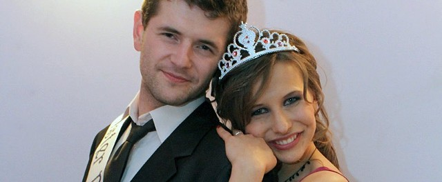 Marta Skuza i Łukasz Grabowski - Miss i Mister Politechniki Rzeszowskiej 2010.