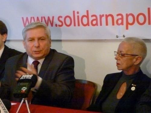 Liderzy  Solidarnej Polski w Łodzi.