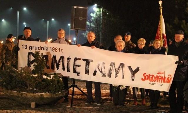 Sądeczanie pamiętali o 37. rocznicy wprowadzenia w Polsce stanu wojennego