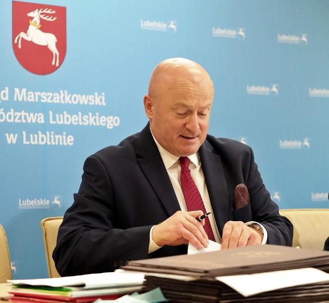 Jarosław Stawiarski, marszałek województwa lubelskiego