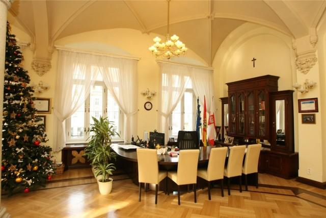 Gabinet prezydenta Wrocławia Rafała Dutkiewicza w ratuszu (Sukiennice 9)