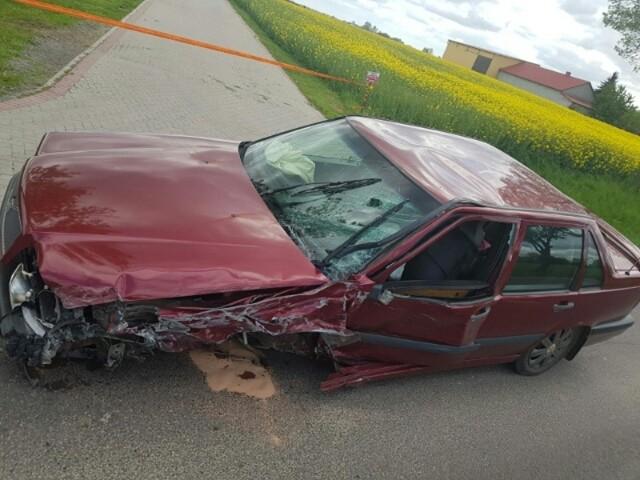 W wyniku wypadku trzy osoby trafiły do szpitala