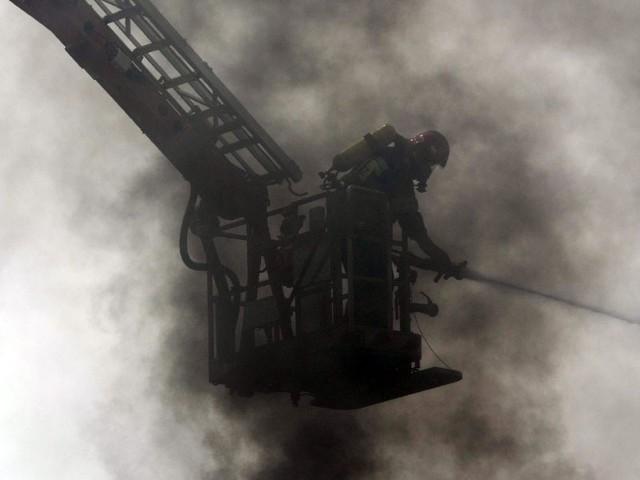 Pożar przy Andrukiewicza wybuchł po godzinie 1 w nocy