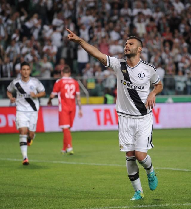 Legia Warszawa wygrała ze Zrinjskim Mostar 2:0. Oba gole strzelił Nemanja Nikolić.