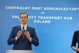 Premier Mateusz Morawiecki przyjechał pociągiem do Łodzi, aby przedstawić założenia programu kolejowego Centralnego Portu Komunikacyjnego