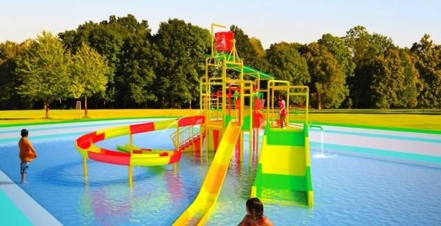 Tak według urzędu miasta może wyglądać zamek na wodnym placu zabaw nad Stawem Górnym.