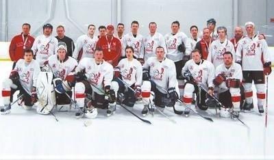 Drużyna hokejowa z Kanady