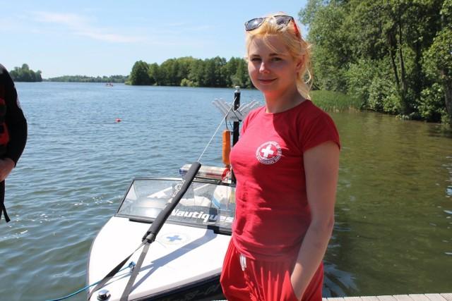Monika Pesta, ratowniczka WOPR.