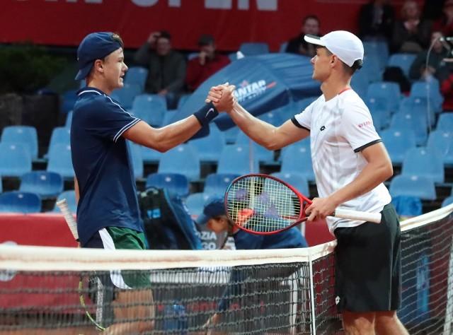 Pekao Szczecin Open: Kamil Majchrzak awansował do półfinału, choć w pierwszym secie było gorąco