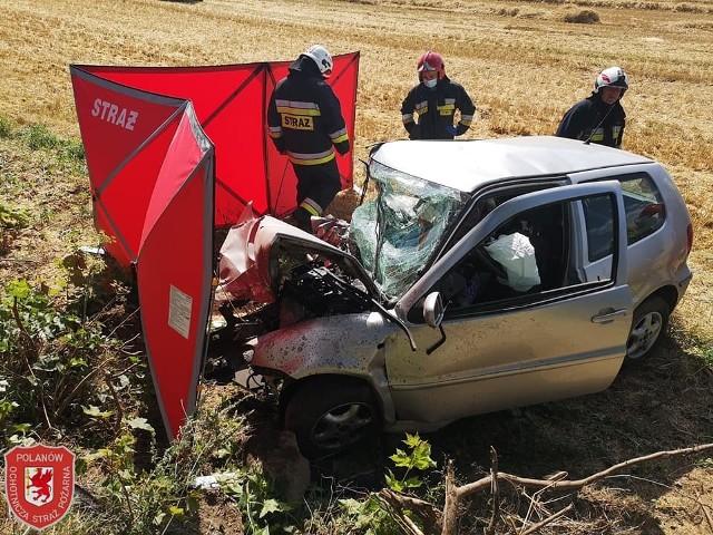 Tragiczny wypadek koło Polanowa