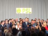Wybory parlamentarne 2019. Wyniki: Radość w sztabie wyborczym PSL i Kukiz'15. Koalicja Polska zdobywa 9,6 proc.