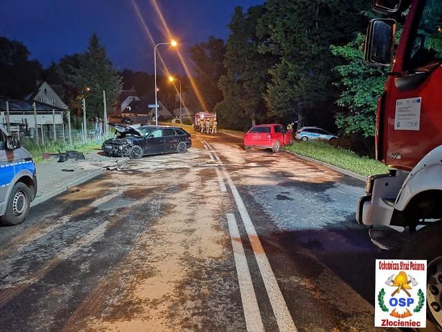 Wypadek w Złocieńcu na ul. Drawskiej