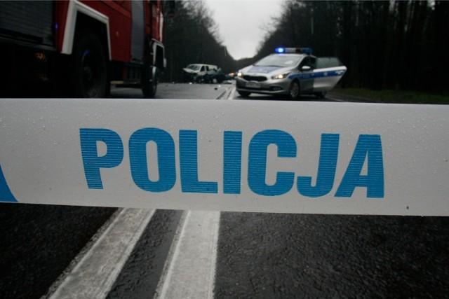 wypadek pod Głogowem - droga krajowa nr 12 - zdjęcie ilustracyjne