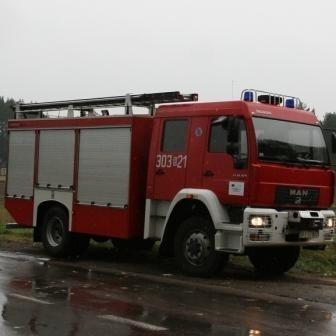 Do pożaru samochodu ciężarowego w Suwałkach wyjechały dwa wozy gaśnicze. Na szczęście pożar nie byl groźny