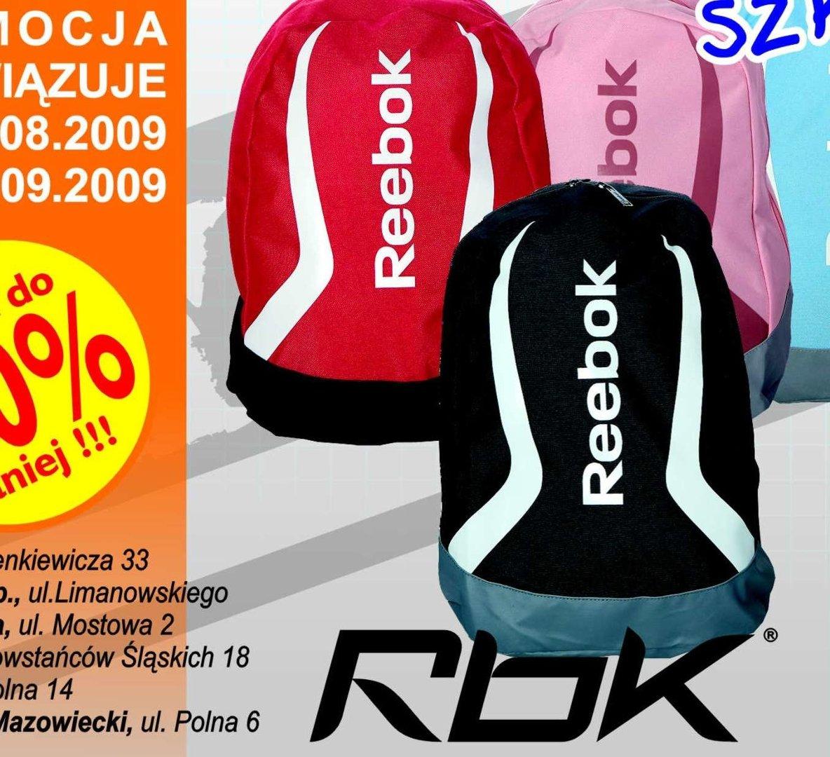 af1d48293 Atrakcyjna oferta pierwszego dnia funkcjonowania nowego outletu - tanie  plecaki Reeboka