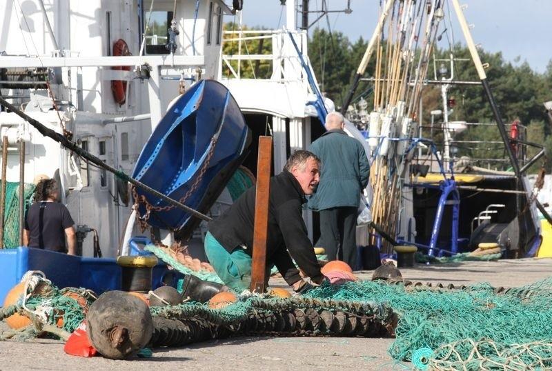 Port rybacki w Ustce.