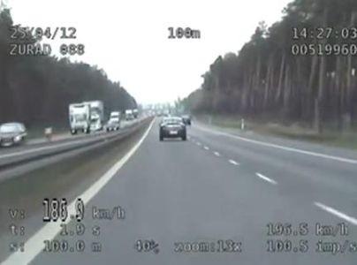 Pirat drogowy został złapany prze policjantów z Zespołu Kontroli Ruchu Drogowego Wydziału Ruchu Drogowego KWP w Bydgoszczy