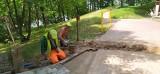 W Wąbrzeźnie na Podzamczu trwają prace budowlane [zdjęcia]