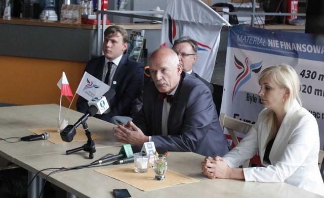 Janusz Korwin-Mikke w Katowicach chce mieć prezydenta z KNP