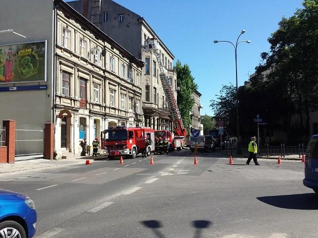 Pożar na Wólczańskiej w Łodzi