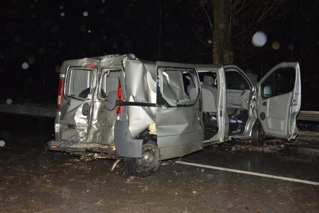 Poniedziałkowy wypadek na tarnobrzeskiej Wisłostradzie