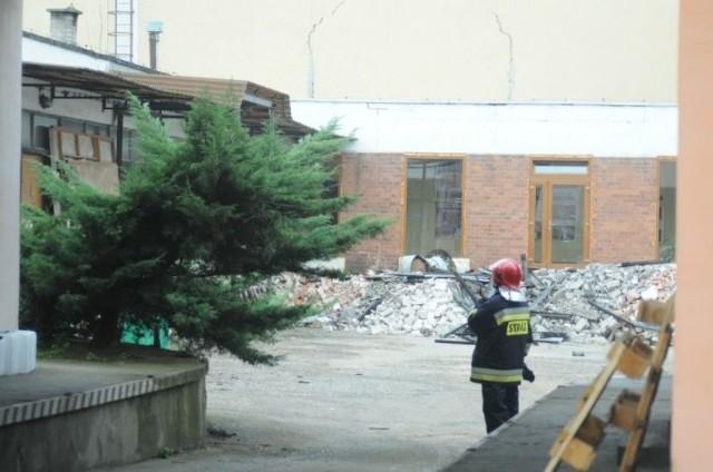 Pożar w Śremie: Płonął dach szkoły katolickiej
