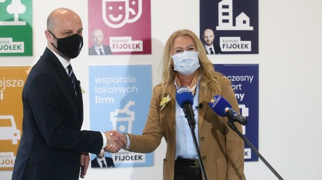 Elżbieta Łukacijewska poprała kandydaturę Konrada Fijołka na prezydenta Rzeszowa.