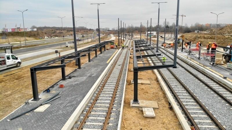 Prace związane z budową linii tramwajowej  są już na finiszu