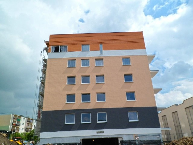 Mieszkania Przy Niepodległości w InowrocławiuPierwsze mieszkania są prawie wykończone.
