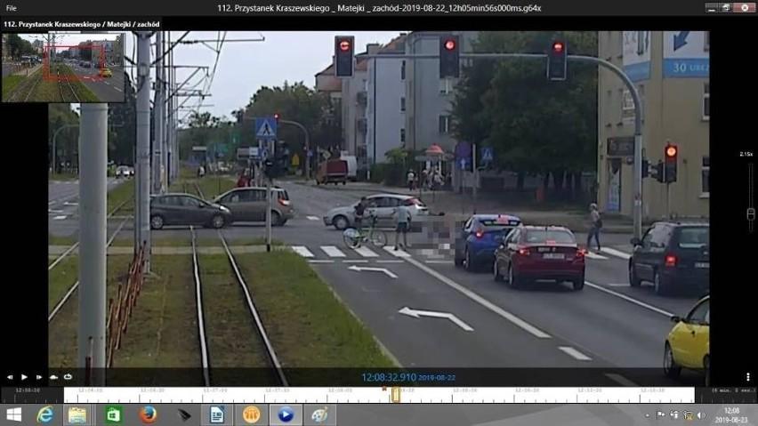 Kadr z monitoringu, który dokumentuje tragiczny wypadek z 22...