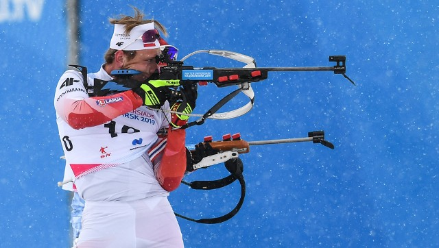Przemysław Pancerz pokazał się z dobrej strony w biathlonowym biegu ze startu masowego