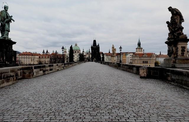 Most Karola w Pradze podczas pierwszego lockdownu w marcu 2020 roku.
