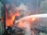 Pożar garażu z maszynami rolniczymi w Fiedorowiźnie (zdjęcia)