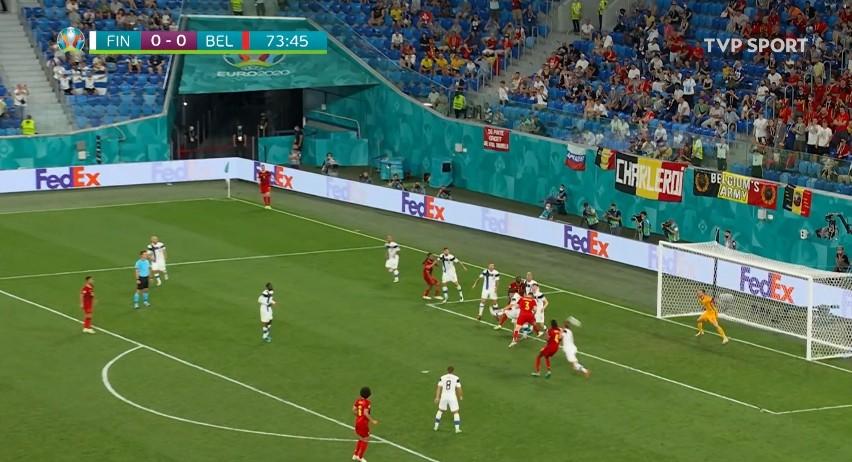 Euro 2020. Skrót meczu Belgia - Finlandia 2:0 [WIDEO]. Trzecia wygrana Czerwonych Diabłów
