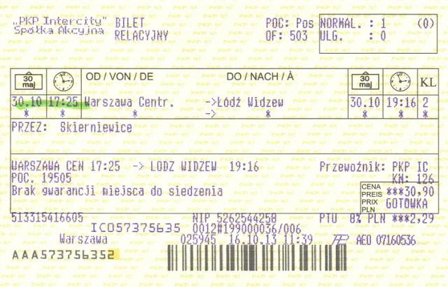 Dariusz Joński kupił bilet dla premiera Tuska, żeby przejechał się pociągiem z Warszawy do Łodzi