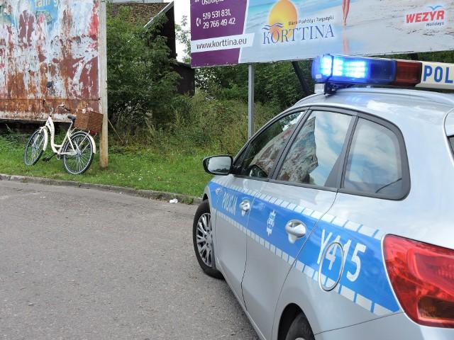 Ostrołęka. Potrącenie rowerzysty w okolicach parkingu przy restauracji McDonald's