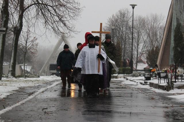 Pogrzeb donatorów na cmentarzu na Majdanku w Lublinie