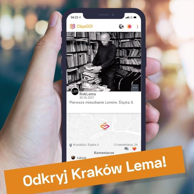 Darmowa aplikacja na telefon ClippGO! pomoże zwiedzać Kraków śladami Stanisława Lema