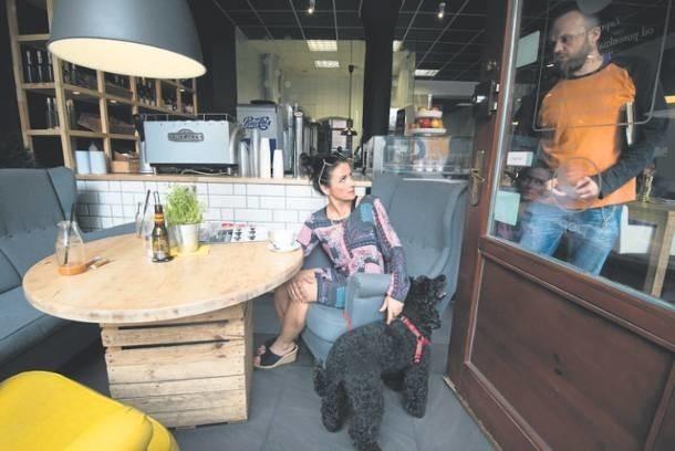 Magda Mysiak, która wpadła na pomysł utworzenia strony Dog in travel, z pudlem Rizo odwiedza lokale przyjazne zwierzakom.