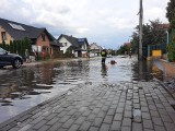 Burza nad Bytowem. Woda zalała kilka ulic w mieście