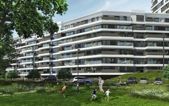 Nowe osiedle mieszkanioweWśród ekologicznych rozwiązań wdrażanych na nowych osiedlach są instalacje do ładowania samochodów elektrycznych. Taki pomysł będzie zrealizowany np. w Parku Ostrobramska w Warszawie.