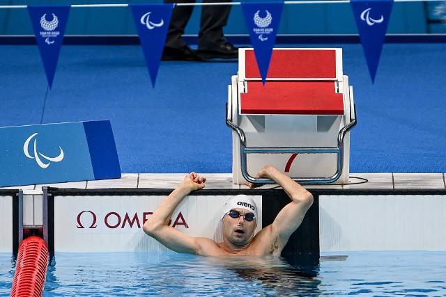 Jacek Czech podczas startu na igrzyskach paraolimpijskich w Tokio