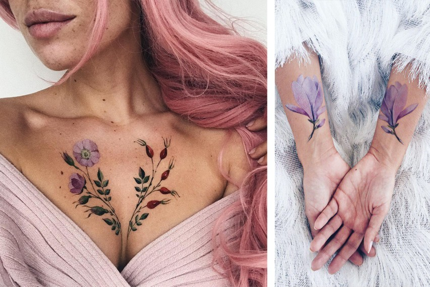 Przepiękne Kobiece Tatuaże Z Motywem Roślinnym To