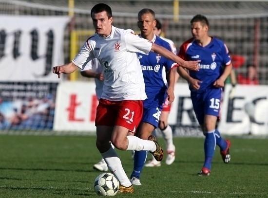 Rafał Kujawa zdobył jednego z dwóch goli dla ŁKS