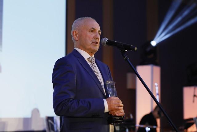 Leszek Gierszewski podczas gali European Leadership Awards.