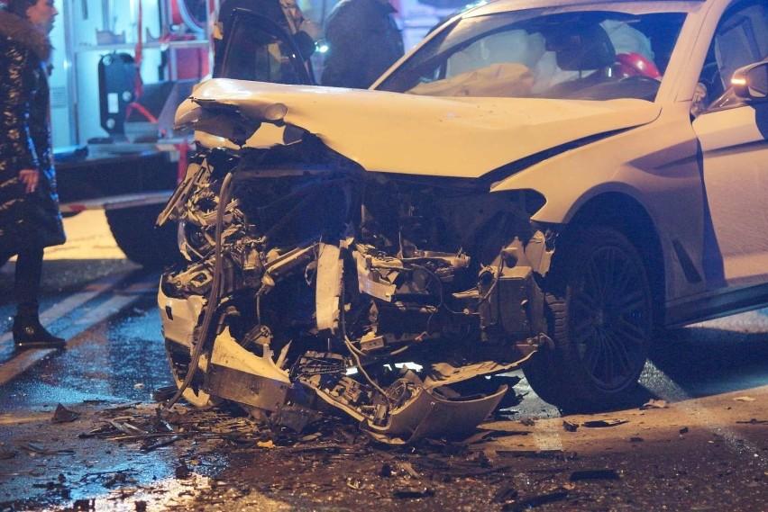 Groźny wypadek miał miejsce 1 stycznia na ulicy Piłsudskiego...