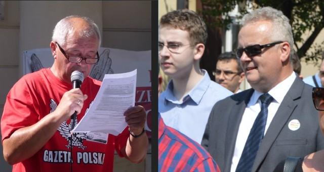Wojciech Gędek (z lewej) i Paweł Kolas reprezentują środowiska prawicowe