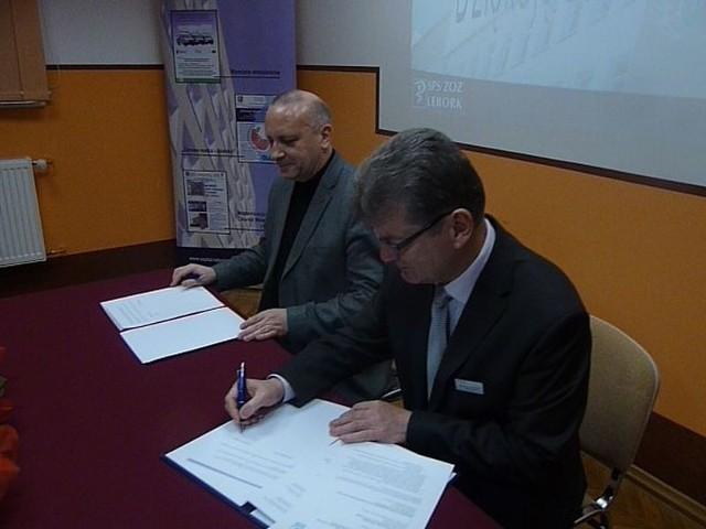 Podpisanie porozumienia pomiędzy lęborskim szpitalem a Gdańską Akademią Medyczną..